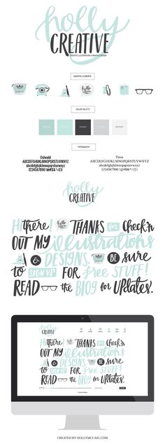 Branding and Logo Design Concept for Holly McCaig, Illustrator and Designer out…