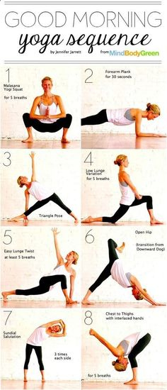 Tasty Morning Yoga Sequence To Wake Up Your Body @ bookretreats.com/... Yoga Workouts for Beginners