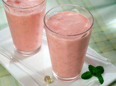 Frozen de Iogurte e Morango -