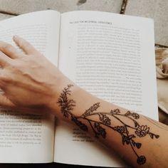 botanical chamomile tattoo