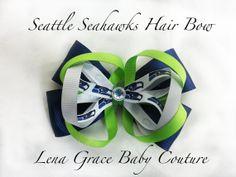 Seattle Seahawks Hair Bow / Headband by LenaGraceCouture, $5.00
