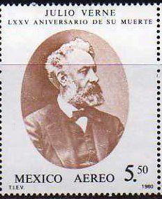 Literary Stamps: Verne, Jules (1828 – 1905)
