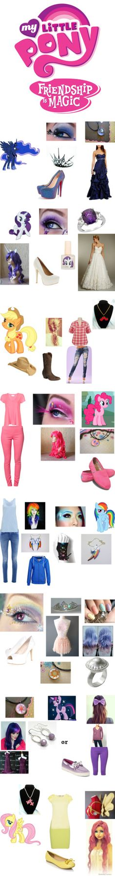 """my little pony friendship is magic"" by clarestuber ❤ liked on Polyvore"