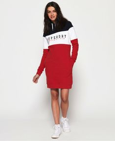 Superdry - Robe sweat Track & Field - Robes pour Femme Track And Field, Superdry, Athleisure, Pull, Cheer Skirts, Couture, Tops, Dresses, Fashion