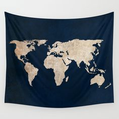 Buy Inverted Rustic World Map Wall Tapestry by bysamantha. Worldwide shipping available at Society6.com. Just one of millions of high quality products available.