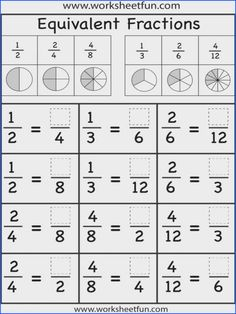 Nice Math Worksheets Equivalent Fractions that you must know, Youre in good company if you?re looking for Math Worksheets Equivalent Fractions Fractions Équivalentes, Math Fractions Worksheets, 3rd Grade Fractions, Teaching Fractions, Equivalent Fractions, Fourth Grade Math, 3rd Grade Math Worksheets, Comparing Fractions, Adding Fractions