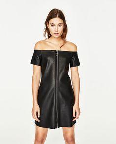 a184bd30ab855 Imagen 2 de VESTIDO EFECTO PIEL de Zara Fashion Catalogue