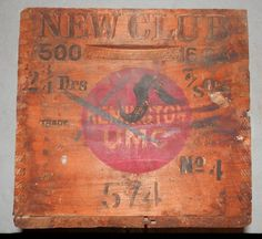antique vintage Remington UMC shotgun shell wood box by BandCEmporium