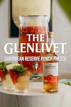 Introducing a fresh and easy batch cocktail for summer with The Glenlivet's new bold and tropical Caribbean Reserve whisky! Craving a quick cocktail for your crew? You'll feel like you're sipping poolside, even when you're lounging inside with the Punch Fresco. Add 1.5 parts Caribbean Reserve, 1.5 parts seedless watermelon, 2 parts water, and agave to taste in a large carafe. Muddle ingredients, add ice, garnish with mint & watermelon, and rim the glass with Tajin. Cheers! Healthy Foods To Eat, Healthy Life, Healthy Eating, Healthy Recipes, Cocktails For Parties, Summer Cocktails, Margarita Bebidas, Fresco, Alcohol Drink Recipes