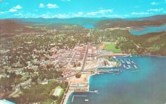 City of Coeur d'Alene aerial view approx 1960s