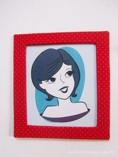 Tutorial: Como fazer uma moldura com papelão e feltro | Mulher Vitrola