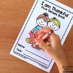 Free Printable Thankful 5 Senses Book
