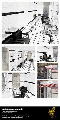 Reproduction en 3D d'un local en vue de l'aménagement d'une boutique. Rendu photoréaliste.