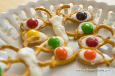 Butterfly pretzels, great project for little ones.