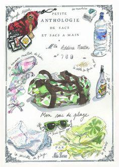 Petite Anthologie de sacs et sacs à main : La plage selon Adeline