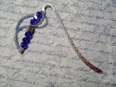 Blue Crystal Bookmark  SALE by RomanticThoughts on Etsy, $7.50, #RomanticThoughts.etsy.com, #bookmark, #RomanticThoughts