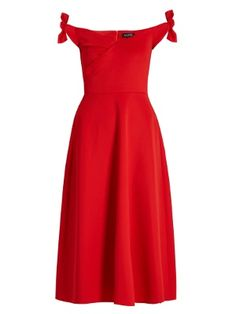 Ruth off-the-shoulder neoprene dress | Saloni | MATCHESFASHION.COM UK