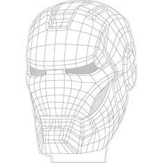 Iron man 3d illusion vector file for CNC - 3bee-studio
