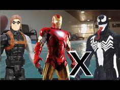 Homem de Ferro Soldado Invernal x Venom Marvel   Piscina Swimming Pool b...