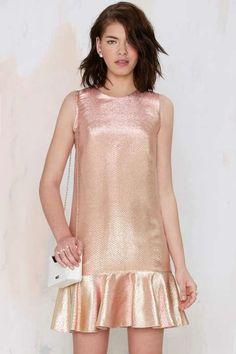 Essentiel Major Space Metallic Dress