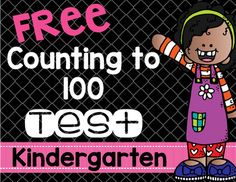 Counting to 100 Test for Kindergarten FREE - This freebie has one formative assessment for you to use to test your Kinders on the Counting and Cardinality standard. Great for the classroom or homeschool that uses Common Core! Cardinality Kindergarten, Kindergarten Assessment, Math Resources, Math Activities, Daily 3 Math, Daily 5, Creative Teaching, Teaching Ideas, Formative And Summative Assessment