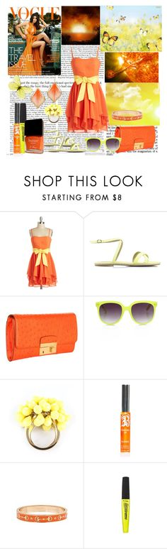 """orange and yellow"" by dgia ❤ liked on Polyvore featuring Paul & Joe Sister, Michael Kors, Matthew Williamson, Juicy Couture, B. the Product, Fornash, Rimmel, Butter London and Nexus"