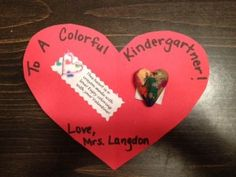 Step by step instructions to make cute handmade Valentines with crayon hearts - freebie included!