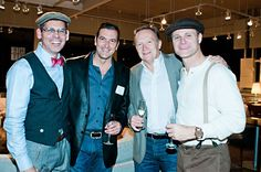 Dapper dandies take on Project Transitions' Guess Who's Coming to Dinner Champagne & dessert reception at Nest.