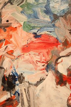 COLOR EMOTIONS IN PAINTING---------------WILLEM DE KOONING http://www.widewalls.ch/artist/willem-de-kooning/ #fine #art
