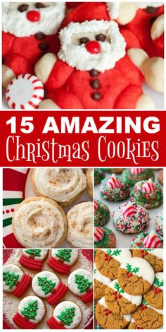 Christmas Cookies the whole family will love! These 15 Amazing Christmas Cookie Recipes are Easy to Make and full of Holiday Flavors like Peppermint, White Chocolate, Gingerbread and More! #christmas #cookies #kisses #gingerbread #sugar #pumpkin #snickerdoodle