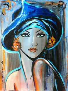 Resultado de imagen de portrait a peindre acrylique