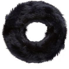 YVES SALOMON Women's Rabbit Fur Infinity Scarf - Dark Blue/Navy ($120) ❤ liked on Polyvore featuring accessories, scarves, infinity scarf, tube scarf, navy infinity scarf, rabbit infinity scarf and circle scarves