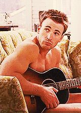 That time he played the guitar nearly naked. | 32 Times Chris Evans Was Too Handsome For His OwnGood