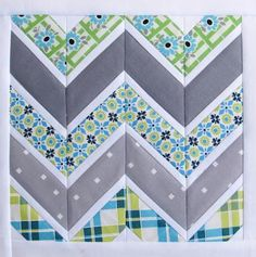 Free Quilting Pattern Friday: Chevron Quilt Pattern  More