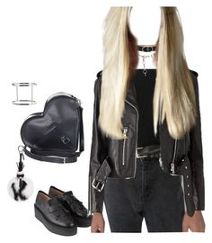 """""""Street style. Black."""" by djulia-tarasova ❤ liked on Polyvore featuring Dr. Martens, G.V.G.V., Fendi and Alexander Wang"""
