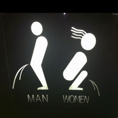 Toilet signage in a Shenzhen bar