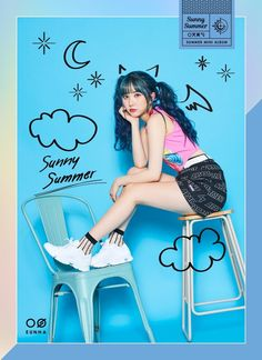 GFriend's Eunha - GFriend Summer Mini Album - Coming soon on 180719 Kpop Girl Groups, Korean Girl Groups, Kpop Girls, Gfriend Album, Jung Eun Bi, Gfriend Sowon, Fandom, G Friend, Girl Bands