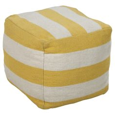 Compose A Lasting Look In Your Space With This Toco Pouf. Featuring  Stunning Stripes Against