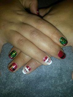 Christmas gel nail art x