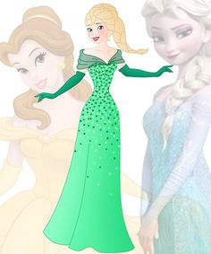disney fusion: Belle and Elsa by Willemijn1991.deviantart.com on @DeviantArt
