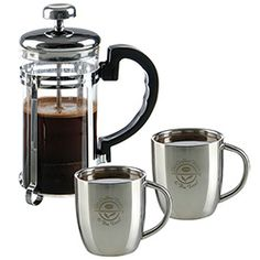 Personal Espresso Set. For details on how to order this item with your logo branded on it contact ww.fivetwentyfour.ca