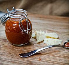 Whiskey Hot Sauce (From Food Heroes, recipe courtesy of Georgia Pellegrini)… Chutney, Mayonnaise, Whisky, Whiskey Sauce, Vegan Finger Foods, Vegan Sauces, Hot Sauces, Hot Sauce Recipes, Stuffed Hot Peppers