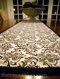 No-sew, glue gun table runner