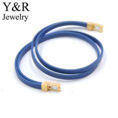 Genuine Leather Bracelet Stainless Steel Magnetic Clasps Mens Leather Bracelet