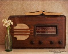 Vintage Radio Still Life Fine Art Photography Print by AgedPage
