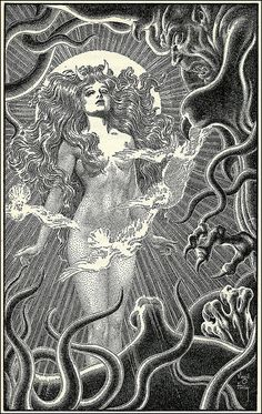 Ishtar (Inanna). QUALITIES: Enlightenment And Domesticity Are One (i.e. Seventh Stage). Amrita Nadi (Right Side Of The Heart) DEMIURGE: Nepthys. DEMIURGE SHORTCOMING: Enlightenment / Domesticity Duality, Kundalini In The Heart. MUSIC: Jordan Suckley - Droid. IMAGE: Ishtar by Virgil Finlay