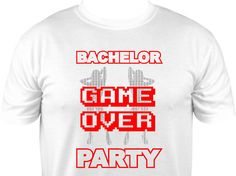 Bachelor Party Girls Game Over Funny Tshirt by GlitzyTees on Etsy