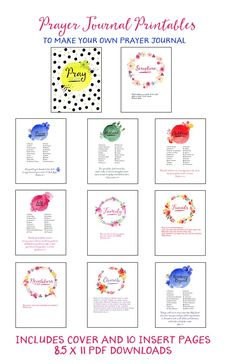 Prayer Journal printables -- this is nicely set up!  :)