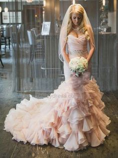 Summer Sleeveless Hall Church Classic & Timeless Spring Natural Lace-up Wedding Dress