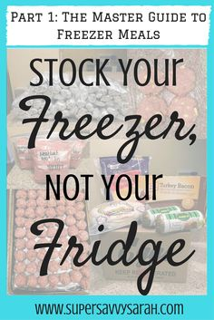 This girl only stocks her freezer 4 times a year!  In this series she explains EVERYTHING - how she decides what to make, where to buy it, and all her recipes!